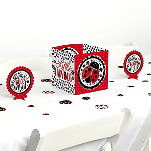 Happy Little Ladybug - Baby Shower or Birthday Party Centerpiece and Table Decoration Kit