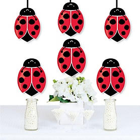 Happy Little Ladybug - Decorations DIY Baby Shower or Birthday Party Essentials - Set of 20