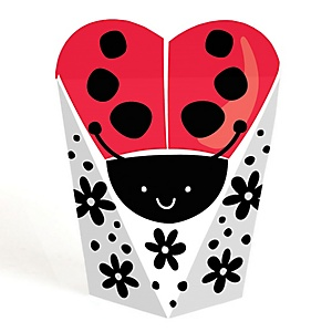 Happy Little Ladybug -  Baby Shower or Birthday Party Favors - Gift Favor Boxes for Women and Kids - Set of 12