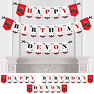 Las Vegas - Personalized Casino Birthday Party Bunting Banner & Decorations