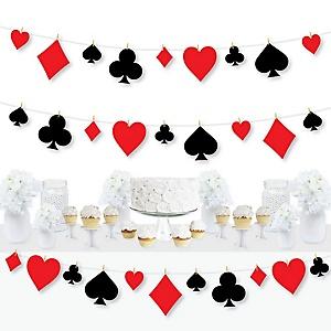 Las Vegas - Casino Party DIY Decorations - Clothespin Garland Banner - 44 Pieces