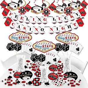 Las Vegas - Casino Party Supplies - Banner Decoration Kit - Fundle Bundle