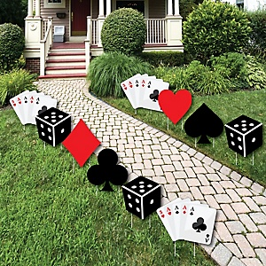 Las Vegas - Casino Lawn Decorations - Outdoor Yard Art Decorations - 10 Piece