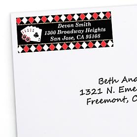 Las Vegas - Personalized Casino Party Return Address Labels - 30 ct