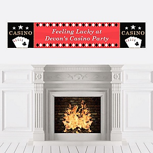 Las Vegas - Personalized Casino Party Banner