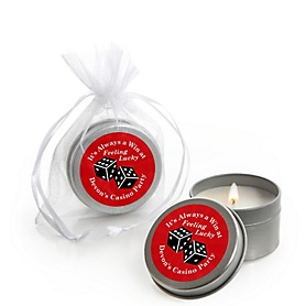 Las Vegas - Personalized Casino Party Candle Tin Favors - Set of 12