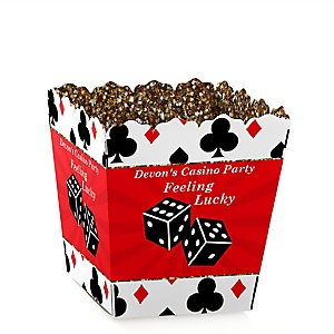 Las Vegas - Party Mini Favor Boxes - Personalized Casino Party Treat Candy Boxes - Set of 12