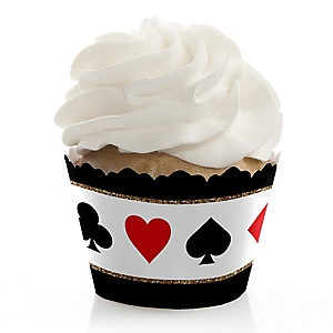 Las Vegas - Casino Party Decorations - Party Cupcake Wrappers - Set of 12