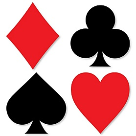 Las Vegas - DIY Shaped Casino Party Cut-Outs - 24 ct