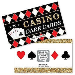 Las Vegas - Casino Party Scratch Off Dare Cards - 22 Cards