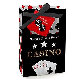 Las Vegas - Personalized Casino Party Favor Boxes - Set of 12