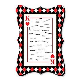 Las Vegas - Unique Alternative Guest Book - Casino Party Signature Mat