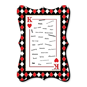 Las Vegas - Unique Alternative Guest Book - Casino Party Signature Mat