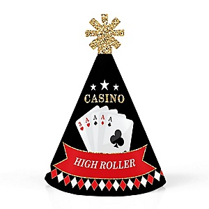 Las Vegas - Personalized Mini Cone Casino Party Hats - Small Little Party Hats - Set of 10