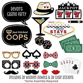 Las Vegas - 20 Piece Casino Photo Booth Props Kit