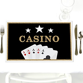 Las Vegas - Party Table Decorations - Casino Party Placemats - Set of 12