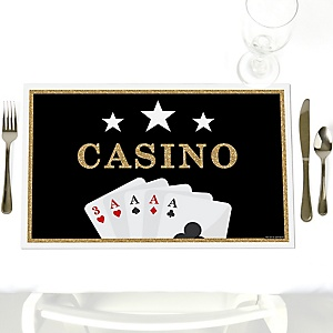 Las Vegas - Party Table Decorations - Casino Party Placemats - Set of 12