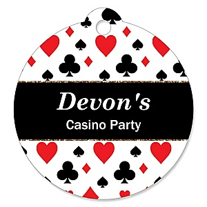 Las Vegas - Personalized Casino Party Gift Tags - 20 ct
