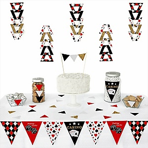 Las Vegas -  Triangle Casino Party Decoration Kit - 72 Piece