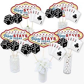 Las Vegas - Casino Party Centerpiece Sticks - Table Toppers - Set of 15
