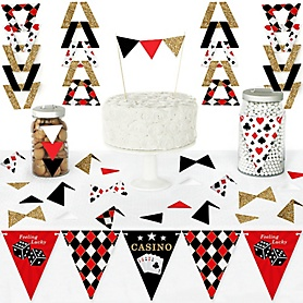 Las Vegas - DIY Pennant Banner Decorations - Casino Party Triangle Kit - 99 Pieces
