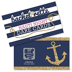 Last Sail Before The Veil - Bachelorette Party & Bridal Shower Game Scratch Off Dare Cards - 22 ct