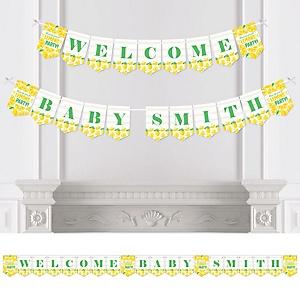 So Fresh - Lemon - Personalized Citrus Lemonade Baby Shower Bunting Banner and Decorations