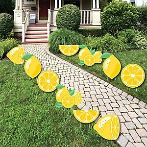 So Fresh - Lemon - Lawn Decorations - Outdoor Citrus Lemonade Party Yard Decorations - 10 Piece
