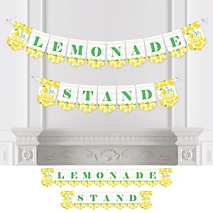 So Fresh - Lemon - Citrus Lemonade Party Bunting Banner - Party Decorations - Lemonade Stand