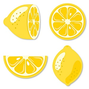 So Fresh - Lemon - DIY Shaped Citrus Lemonade Party Cut-Outs - 24 ct
