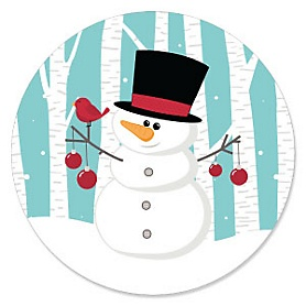 Let It Snow - Snowman - Holiday & Christmas Party Theme