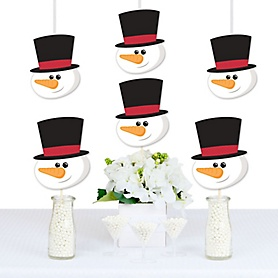 Let It Snow - Snowman Decorations DIY Christmas & Holiday Party Essentials - Set of 20