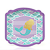 Let's Be Mermaids with Gold Foil Baby Shower or Birthday Party Dessert Plates - 16 ct