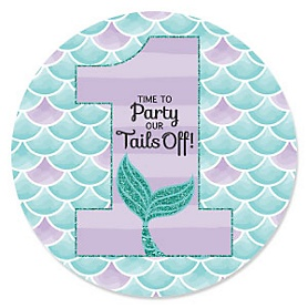 1st Birthday Let's Be Mermaids - First Birthday Party Theme