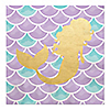 Let's Be Mermaids with Gold Foil Baby Shower or Birthday Party Luncheon Napkins - 16 ct