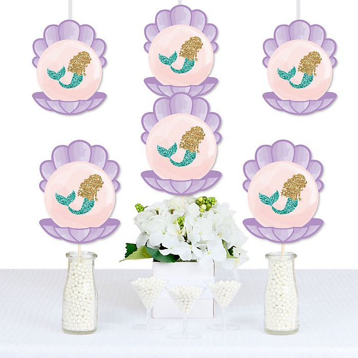 Let's Be Mermaids - Decorations DIY Baby Shower or Birthday Party Essentials - Set of 20