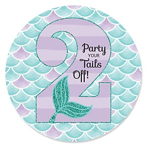 2nd Birthday - Let's Be Mermaids - Second Birthday Party Theme