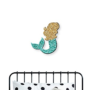 Let's Be Mermaids - Nursery and Kids Room Home Decorations - Shaped Wall Art - 1 Piece