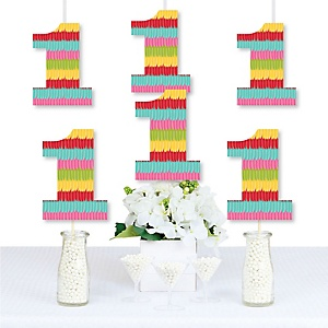 1st Birthday Let's Fiesta - One Shaped Decorations DIY Mexican Fiesta First Birthday Party Essentials - Set of 20