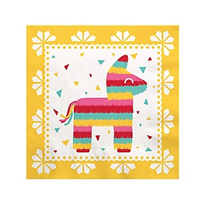 Let's Fiesta - Mexican Fiesta Cocktail Beverage Napkins - 16 ct