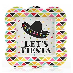 Let's Fiesta - Mexican Fiesta Dessert Plates - 16 ct