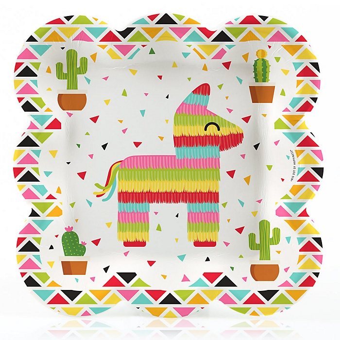 Let's Fiesta - Mexican Fiesta Dinner Plates - 16 ct