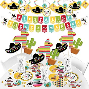 Let's Fiesta - Mexican Fiesta Party Supplies - Banner Decoration Kit - Fundle Bundle