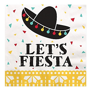 Let's Fiesta - Mexican Fiesta Luncheon Napkins  - 16 ct