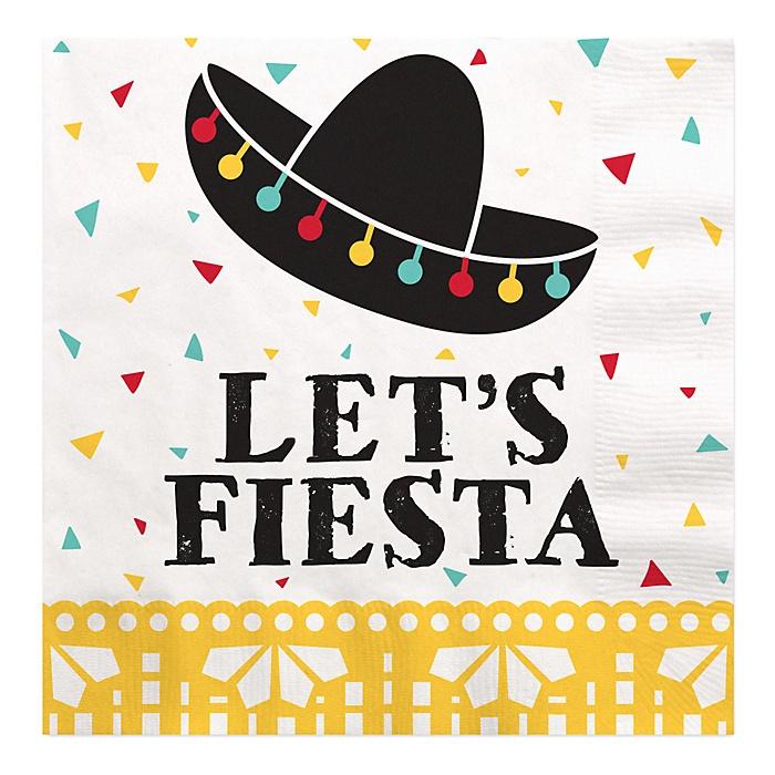 Let's Fiesta - Mexican Fiesta Luncheon Napkins  - 16 ct