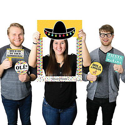 Lets Fiesta Personalized Mexican Fiesta Selfie Photo Booth