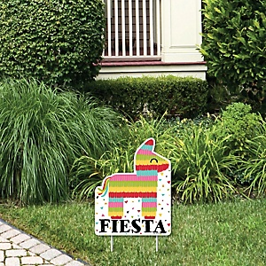 Let's Fiesta - Outdoor Lawn Sign - Mexican Fiesta Yard Sign - 1 Piece