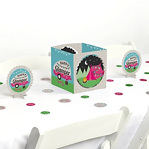 Let's Go Glamping - Camp Glamp Party or Birthday Party Centerpiece and Table Decoration Kit