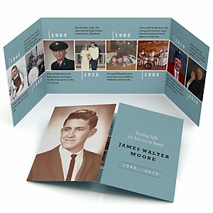 Life Well Lived - Gatefold Memorial Photo Card