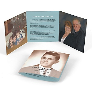 Life Well Lived - Tri-fold Memorial Photo Card